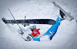 Лыжи зимой